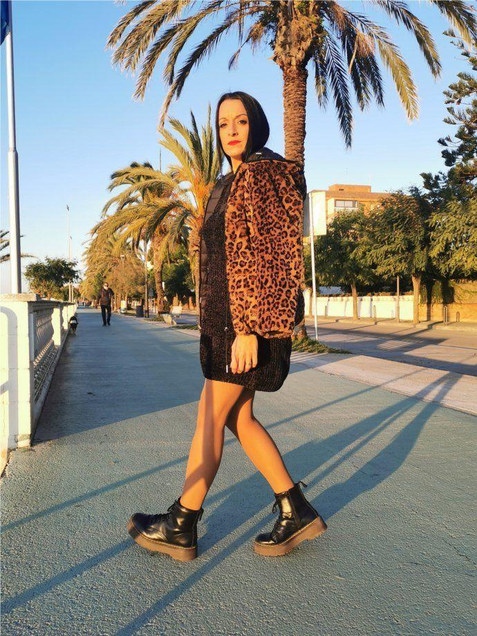 Abrigo reversible leopardo