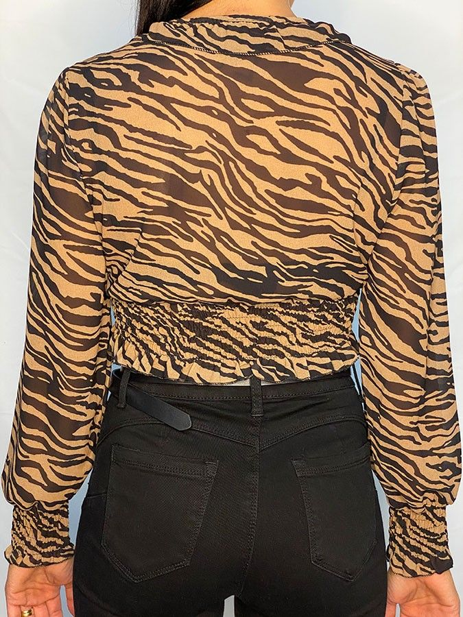 Blusa gasa animal print zebra