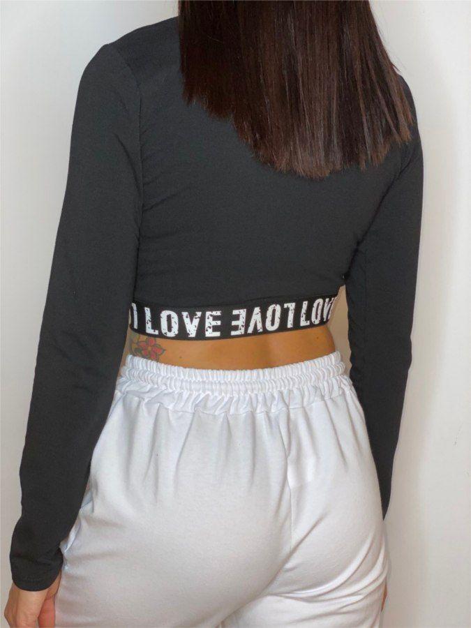 Camiseta cropped Love