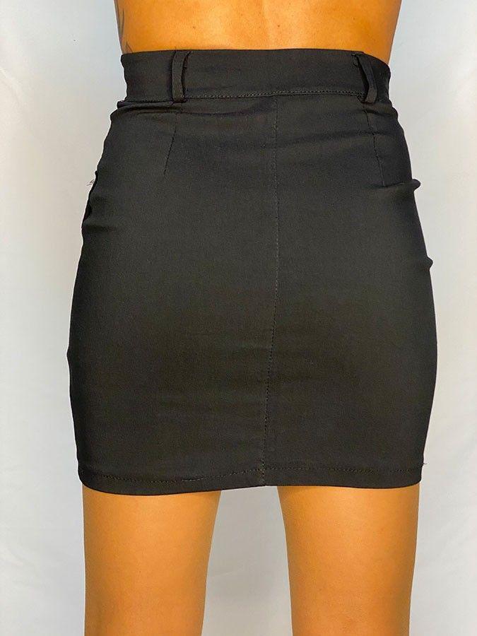 Falda mini bolsillos