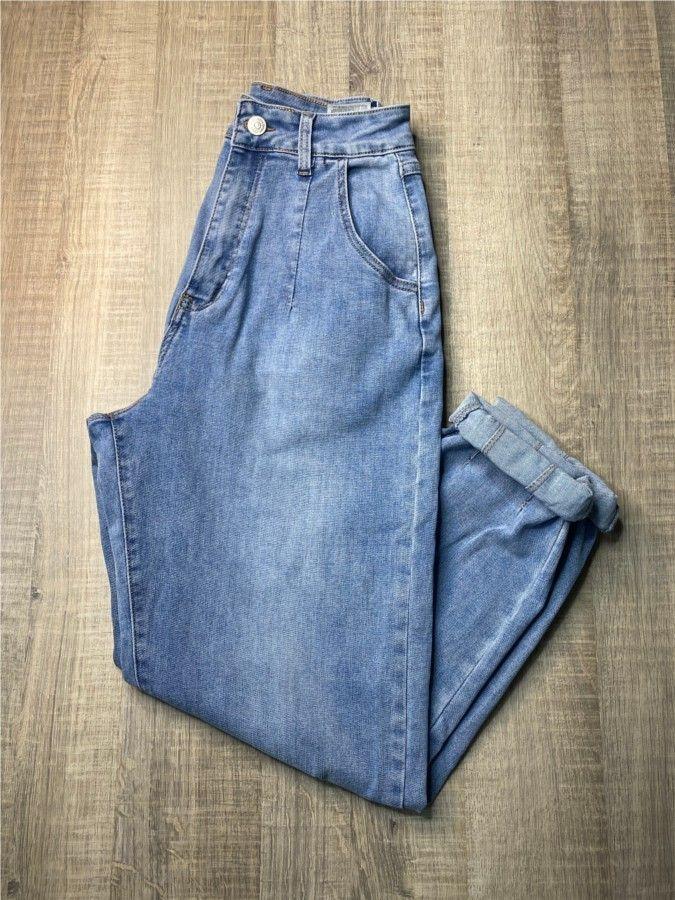 Jeans mom fit elástico