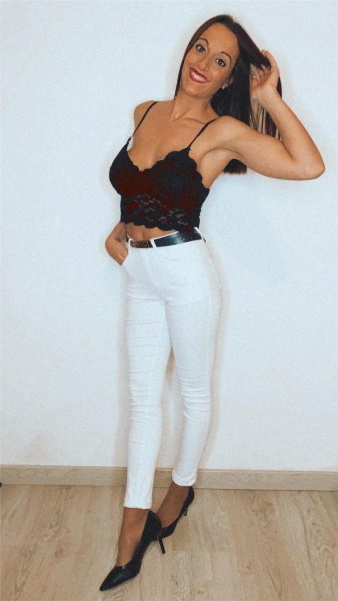 Jeans push up blanco
