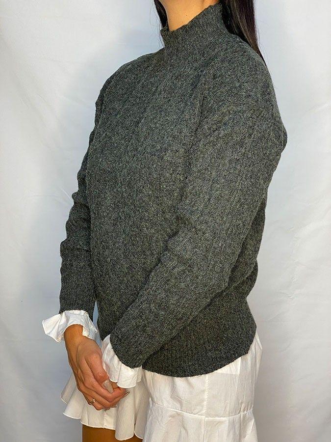 Jersey punto grueso cuello alto