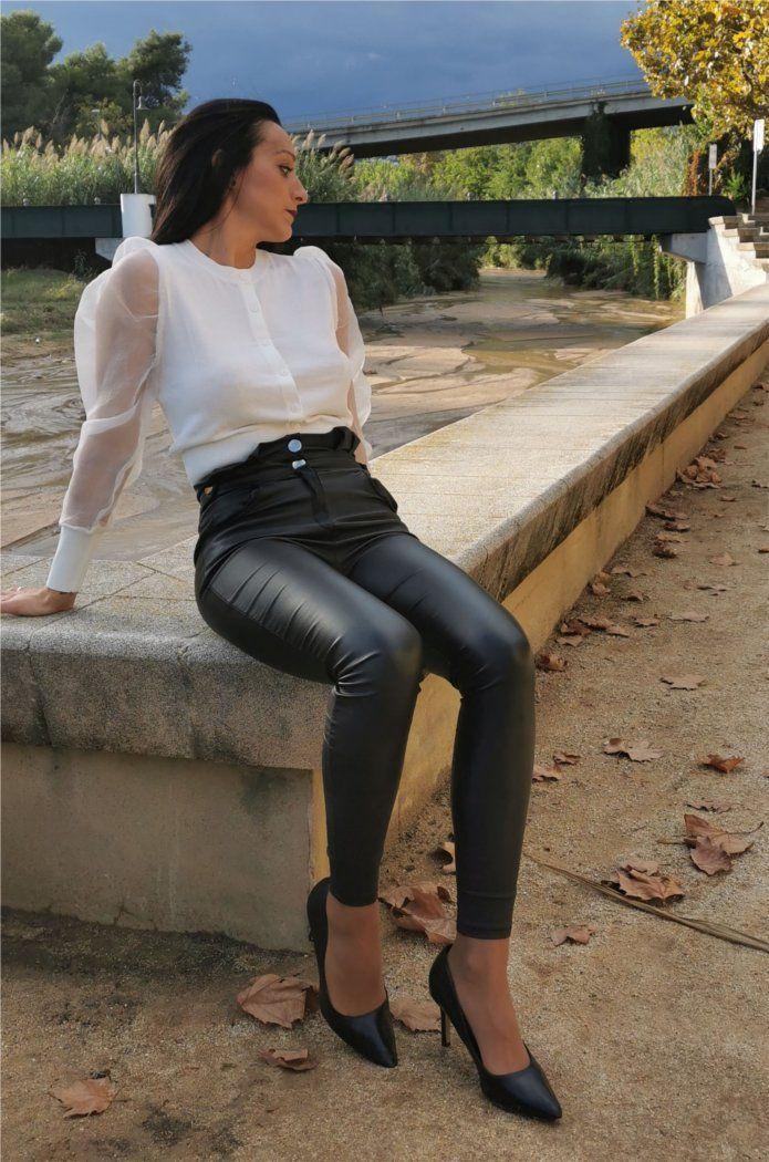 Legging efecto encerado