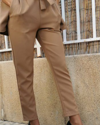 Pantalón tiro alto lazo