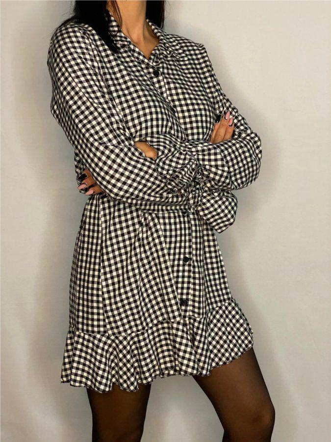 Vestido camisero vichy
