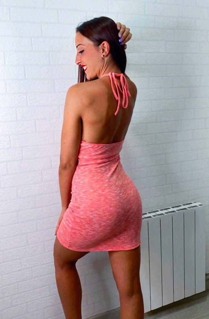 Vestido cut-out jaspeado