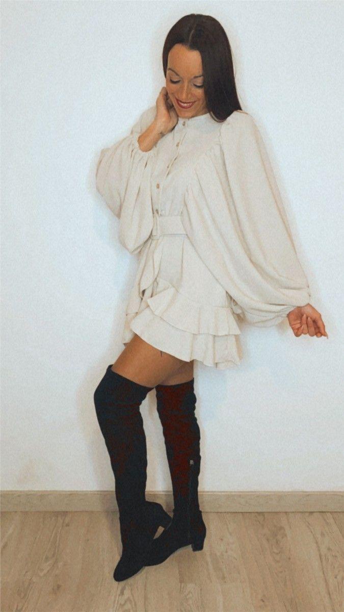 Vestido mangas bombachas