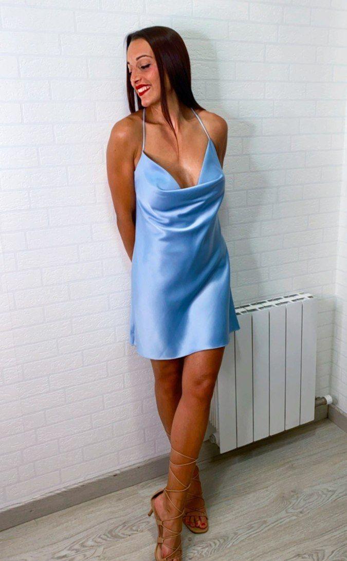 Vestido mini satinado